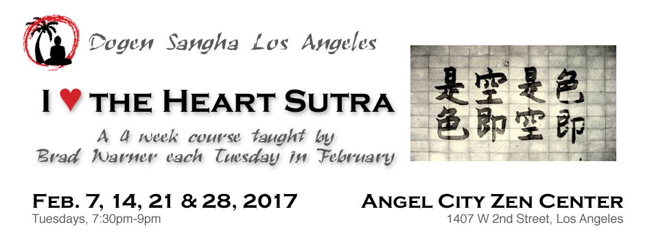 heart sutra brad warner tuesdays in feb