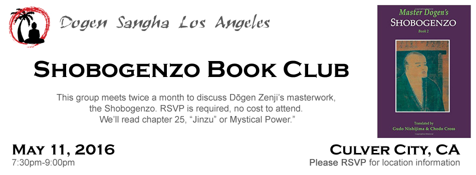 shobogenzo book club may 11